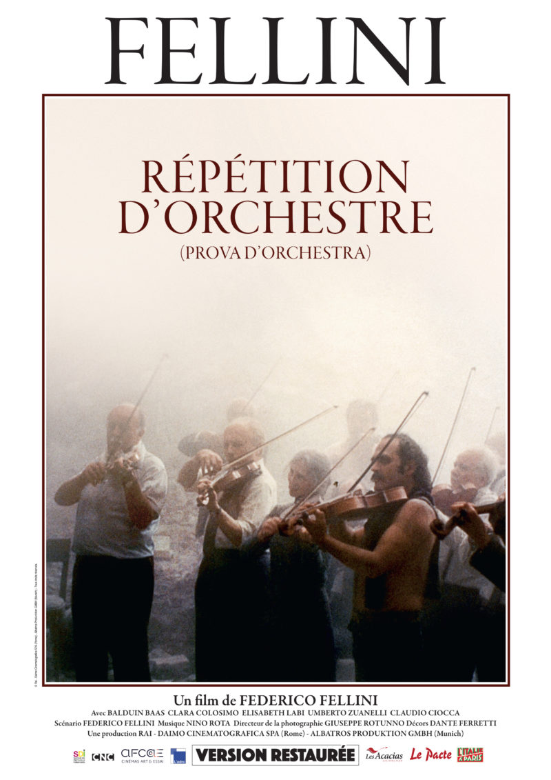 Répétition d'orchestre - Affiche