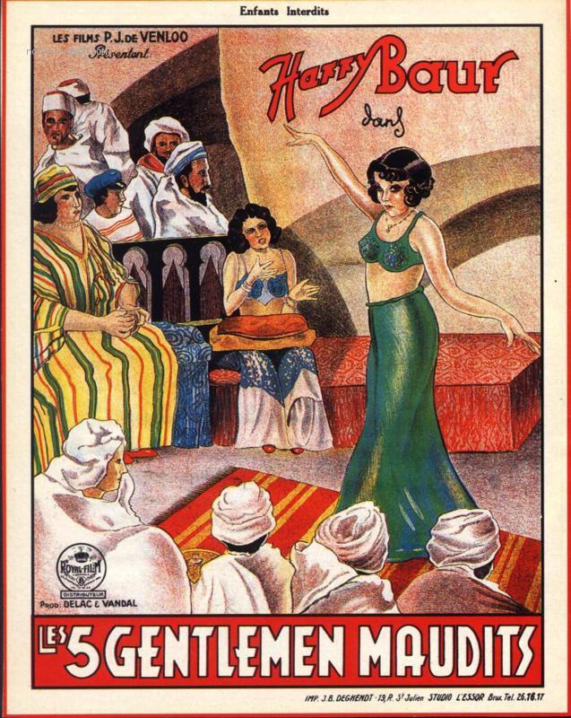 Les Cinq Gentlemen maudits - Affiche